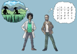 A statistican and a mathematician discuss fields