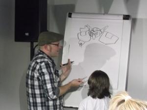 Neill in teaching mode