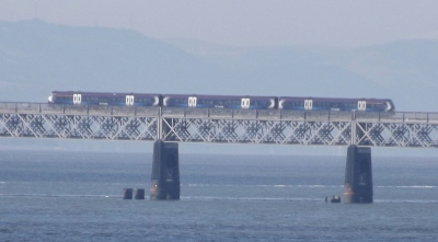 Train on Tay Bridge