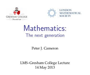LMS-Gresham Lecture