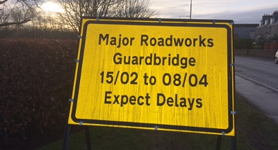 Guardbridge roadworks