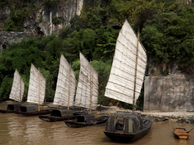 Boats in Three Gorges